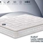 materasso naturale a molle indipendenti a portanza progressiva Karat lana merinos cotone seta
