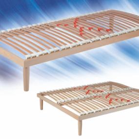 Rete a doghe fissa con telaio legno Dual