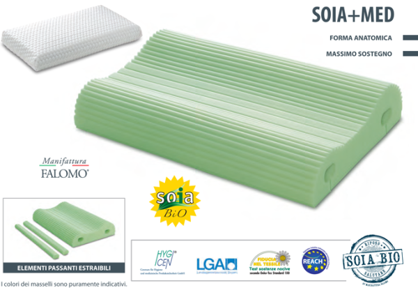 Guanciale cervicale Soia+Med in Soia Memory Touch