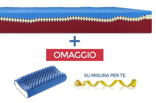 Promozione Relaxody materasso con guanciale Dream Memory Blue omaggio