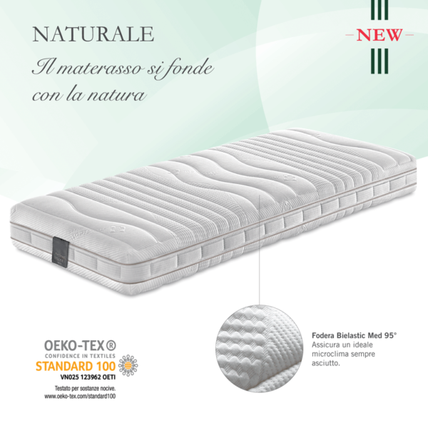 Materasso Falomo Lattice Naturale